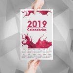 Calendarios tipo Afiche