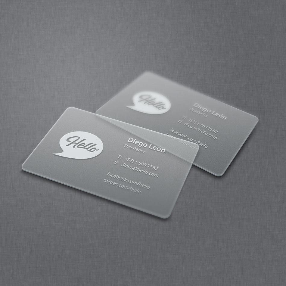Resultado de imagen para tarjeta de presentacion transparente